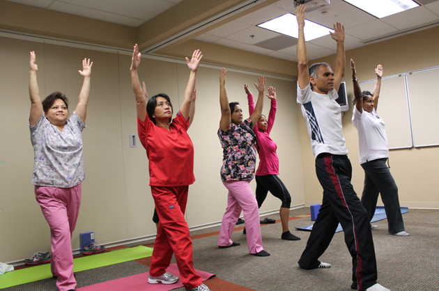 MD Shares Rx for Stress by Teaching Yoga