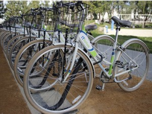 Employees and contractors at Kaiser Permanente's Pleasanton Technology Campus can go online to reserve a bikeshare bike for free for up to two hours.